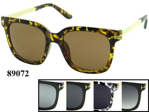 Womens Wholesale Trendy Two Toned Wayfarer Sunglasses 1 Dozen 89072 - BuyWholesaleSunglasses.com