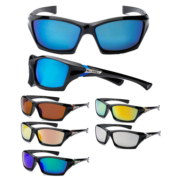 Mens Wholesale Sports Wrap Xloop Revo Lens Sunglasses 1 Dozen 8X2366 - BuyWholesaleSunglasses.com