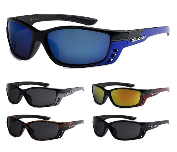 Mens Wholesale Revo Lens Xloop Plastic Sports Sunglasses 1 Dozen 8X2471 - BuyWholesaleSunglasses.com