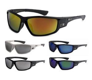 Men's Wholesale Xloop Wrap Revo Lens Sunglasses 1 Dozen 8X2473 - BuyWholesaleSunglasses.com