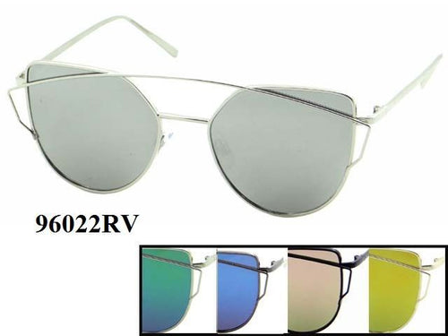Womens Wholesale Hipster Metal Frame Vintage Sunglasses 1 Dozen 96022RV