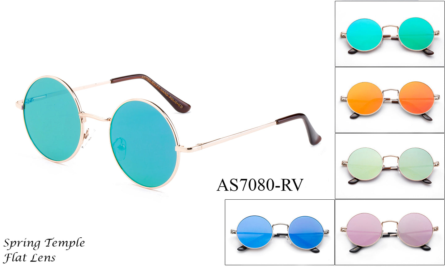 Metal Unisex Retro Hipster Lennon Shades - AS7080-RV - BuyWholesaleSunglasses.com
