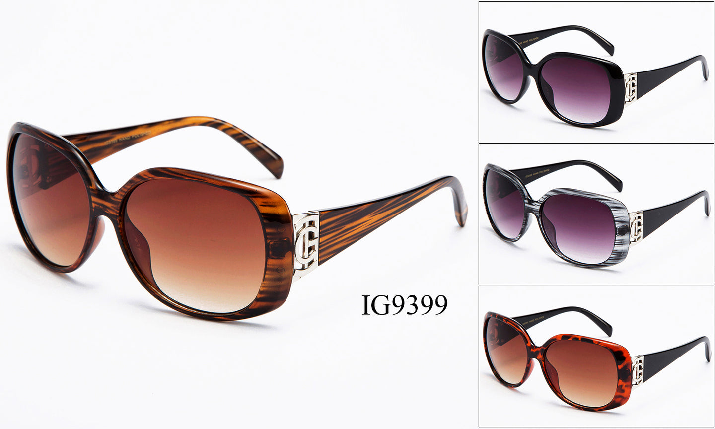 Womens Wholesale Wood grain Inspired Sunglasses 1 Dozen IG9399 - BuyWholesaleSunglasses.com