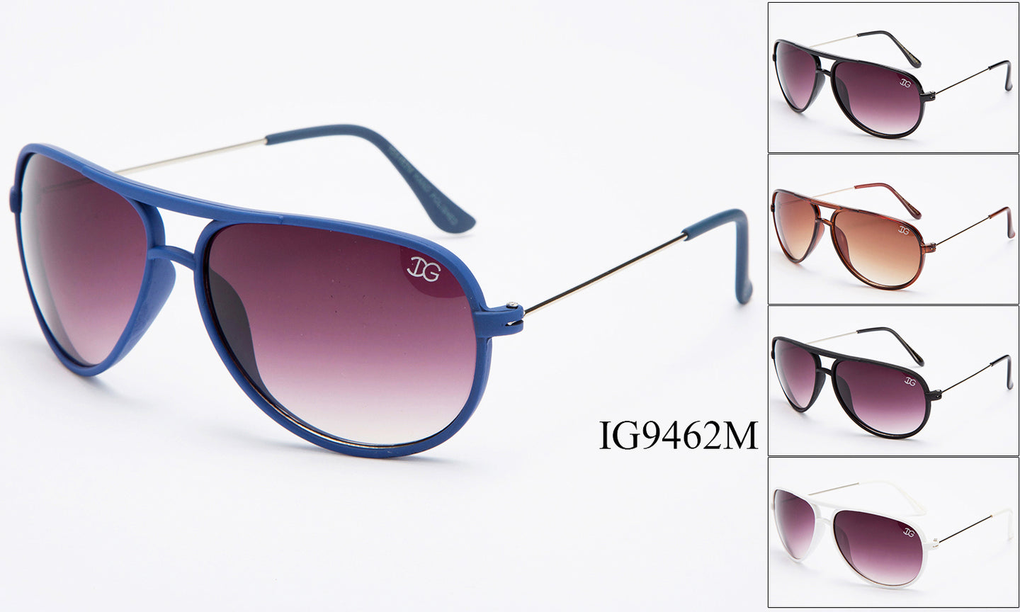 Unisex Wholesale Trendy Fashionable Aviator Plastic Sunglasses 1 Dozen IG9462-M - BuyWholesaleSunglasses.com