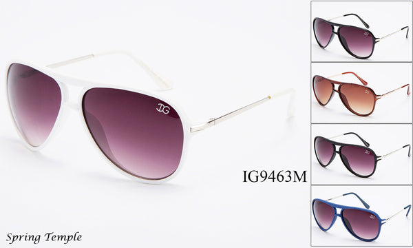 Unisex Wholesale Trendy Plastic Fashionable Aviator Sunglasses 1 Dozen IG9463-M - BuyWholesaleSunglasses.com