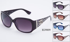 Womens Wholesale Textured Rhinestone Armband Fashionable Sunglasses 1 Dozen IG9809 - BuyWholesaleSunglasses.com