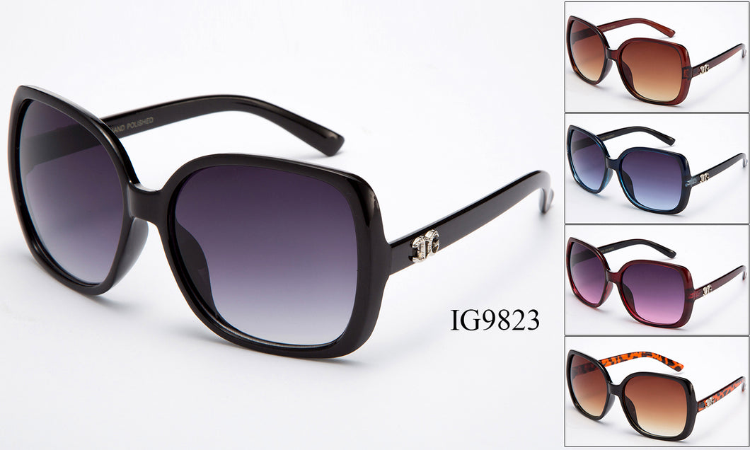 Womens Fashion Wholesale Oversized Lens Sunglasses 1 Dozen IG9823