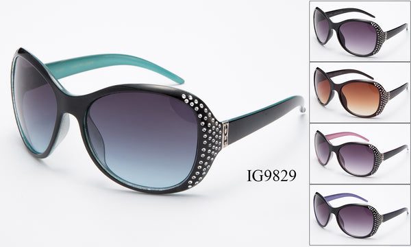 Womens Wholesale Fashionable Rhinestone Frame Sunglasses 1 Dozen IG9829 - BuyWholesaleSunglasses.com