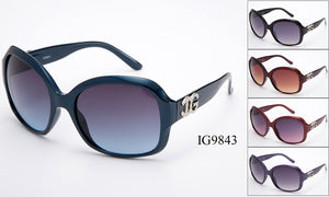 Womens Wholesale Fashion Large Lens Sunglasses 1 Dozen IG9843 - BuyWholesaleSunglasses.com