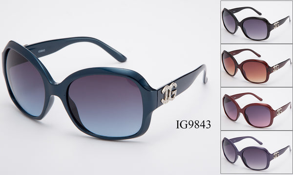 Womens Wholesale Fashionable Big Lens Sunglasses 1 Dozen IG9843 - BuyWholesaleSunglasses.com