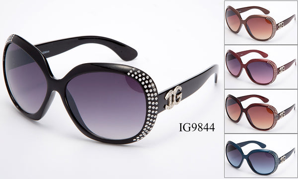 Womens Wholesale Fashion Rhine Stone Sunglasses 1 Dozen IG9844 - BuyWholesaleSunglasses.com