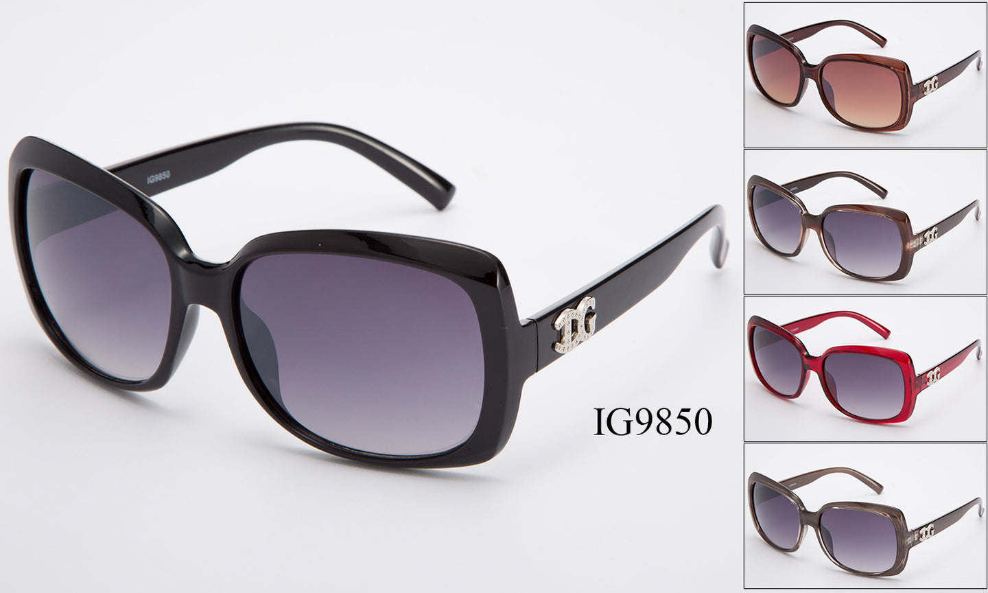Womens Wholesale Fashion Big Lens Plastic Sunglasses 1 Dozen IG9850 - BuyWholesaleSunglasses.com