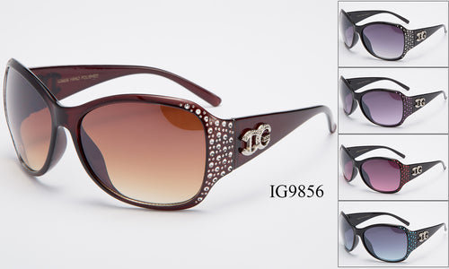 Womens Wholesale Fashion Rhine Stone Sunglasses 1 Dozen IG9856 - BuyWholesaleSunglasses.com