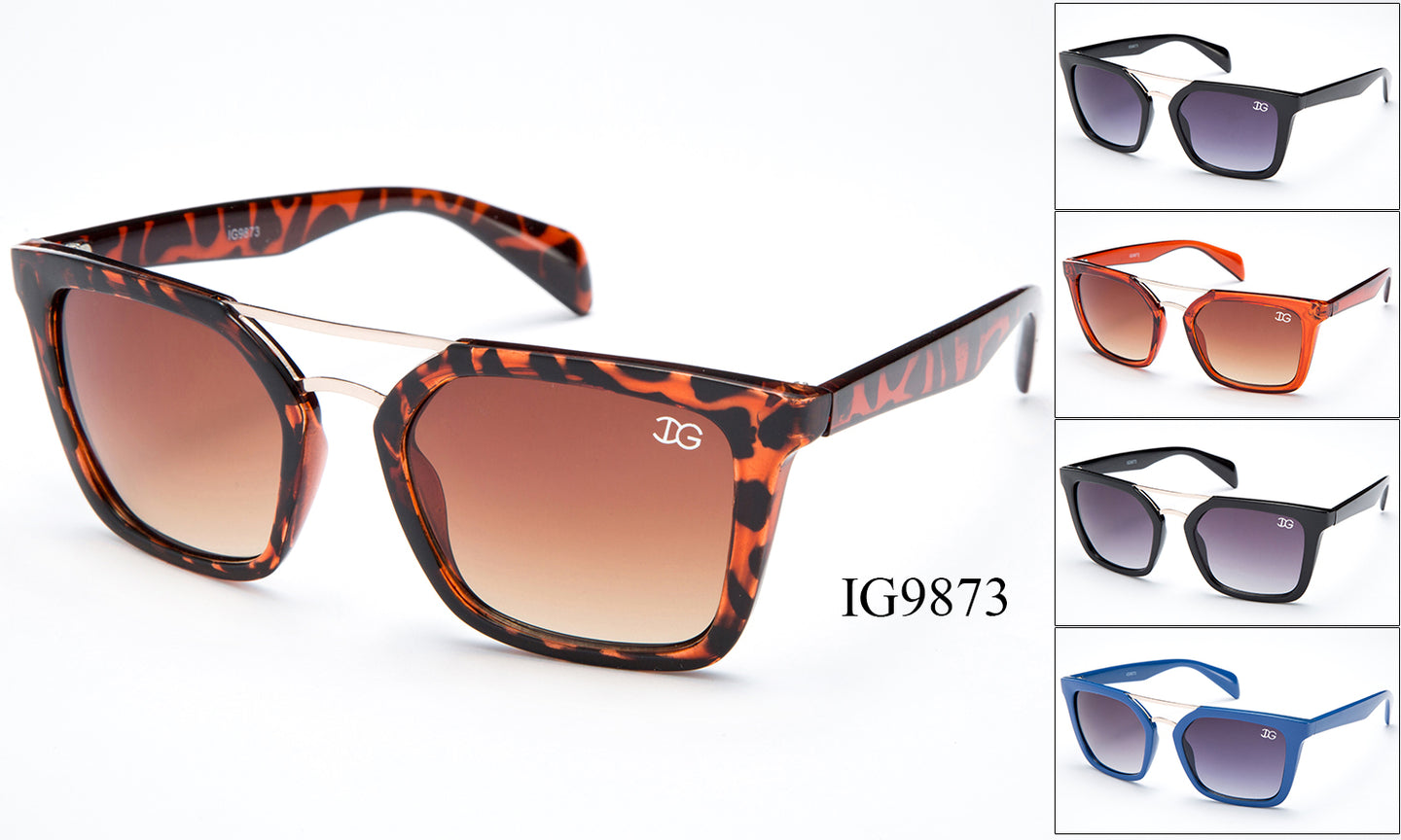 Womens Wayfarer Wholesale Fashion Brow Bar Sunglasses 1 Dozen IG9873 - BuyWholesaleSunglasses.com