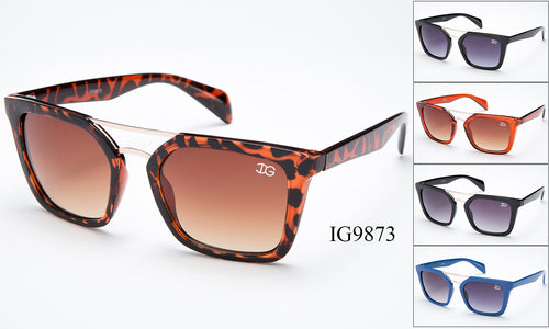 Unisex Wholesale Trendy Brow Bar Wayfarer Sunglasses 1 Dozen IG9873 - BuyWholesaleSunglasses.com