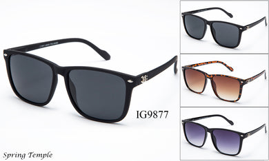 Wholesale Unisex Fashion Wayfarer Sunglasses 1 Dozen IG9877 - BuyWholesaleSunglasses.com