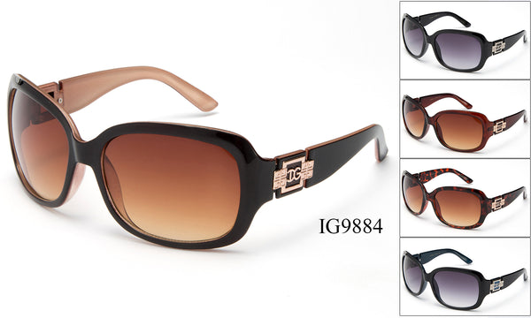 Womens Wholesale Plastic Fashionable Sunglasses 1 Dozen IG9884 - BuyWholesaleSunglasses.com