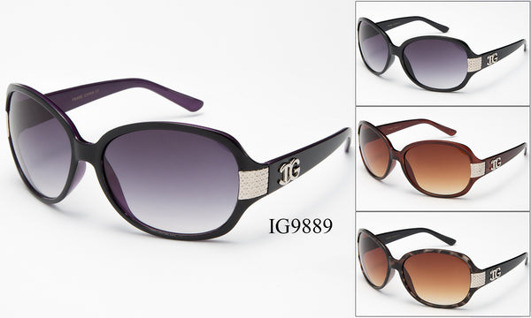 Womens Wholesale Fashion Rhinestone Plastic Sunglasses 1 Dozen IG9889 - BuyWholesaleSunglasses.com
