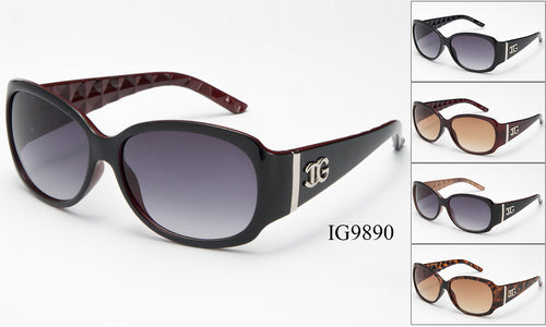 Womens Wholesale Fashion Textured Armband Plastic Sunglasses 1 Dozen IG9890 - BuyWholesaleSunglasses.com