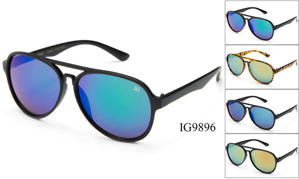 Unisex Aviator Wholesale Brow Bar Fashionable Sunglasses 1 Dozen IG9896 - BuyWholesaleSunglasses.com