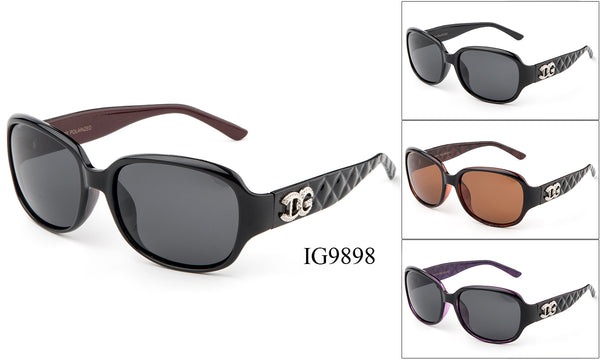 Womens Wholesale Textured Armband Fashionable Sunglasses 1 Dozen IG9898 - BuyWholesaleSunglasses.com