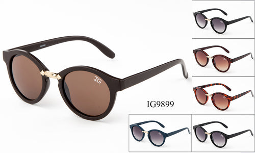 Unisex Wholesale Hipster Circle Lens Sunglasses 1 Dozen IG9899
