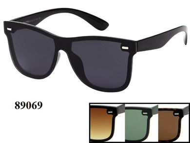 Mens Wholesale Wayfarer Fashionable Sunglasses 1 Dozen 89069 - BuyWholesaleSunglasses.com