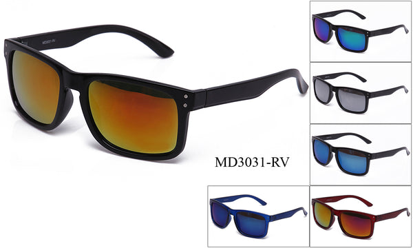 Mens Wholesale Wayfarer Fashionable Sunglasses 1 Dozen MD3031-RV - BuyWholesaleSunglasses.com
