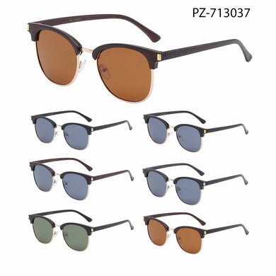 Unisex Wholesale Polarized Semi Rimless Lens Sunglasses PZ-713037 - BuyWholesaleSunglasses.com