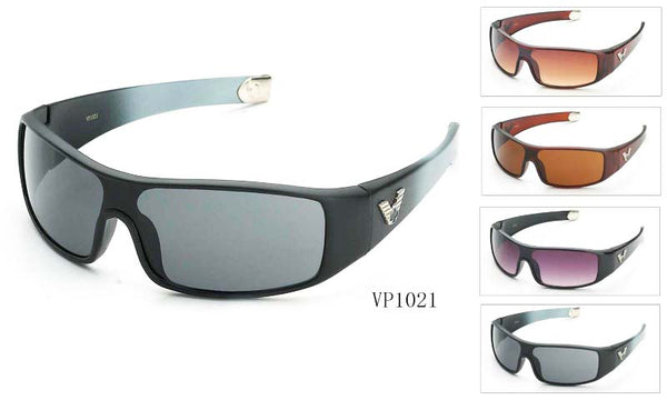 Mens Wholesale Plastic Sports Sunglasses 1 Dozen VP1021 - BuyWholesaleSunglasses.com