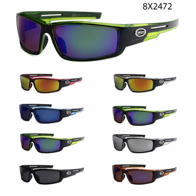Mens Wholesale Athletic X-Loop Revo Lens Sports Plastic Sunglasses 1 Dozen 8X2472 - BuyWholesaleSunglasses.com