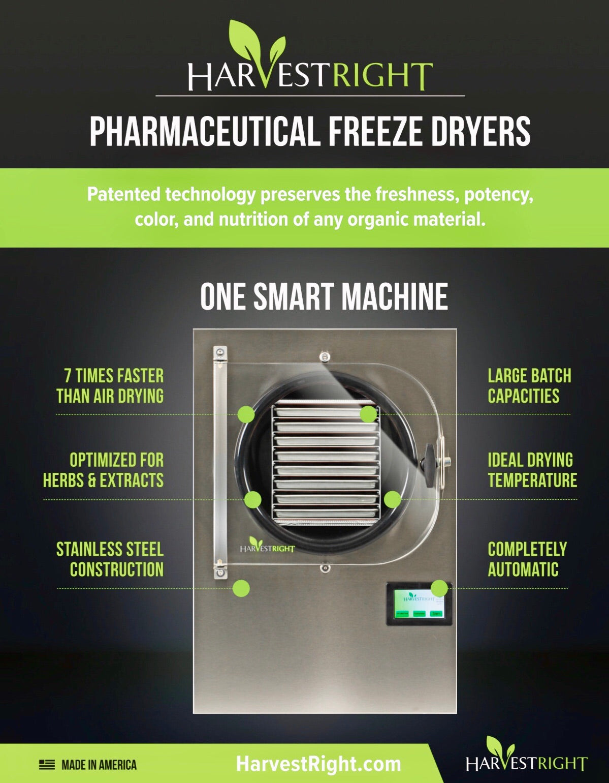 HarvestRight Pharmaceutical Freeze Dryer Large