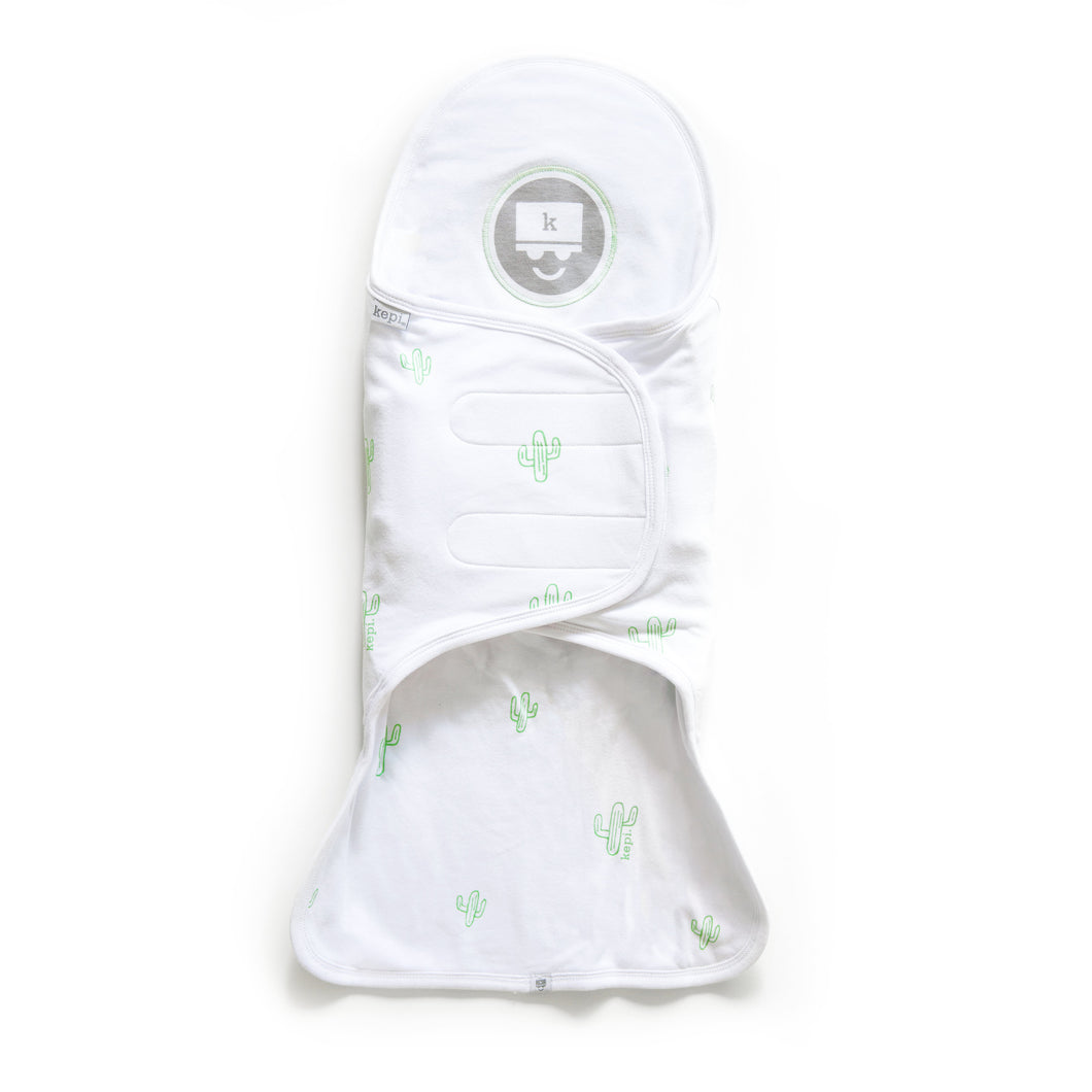 Kozy Support Swaddle - Mint Cactus