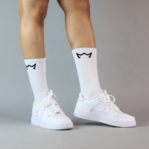 Crown Athletic Crew Sock - White