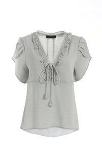 Lenna Lace Up Top - ELLY M Australia