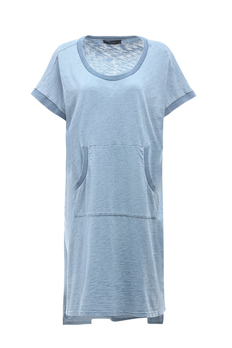 KNIT DENIM TEE DRESS - ELLY M Australia