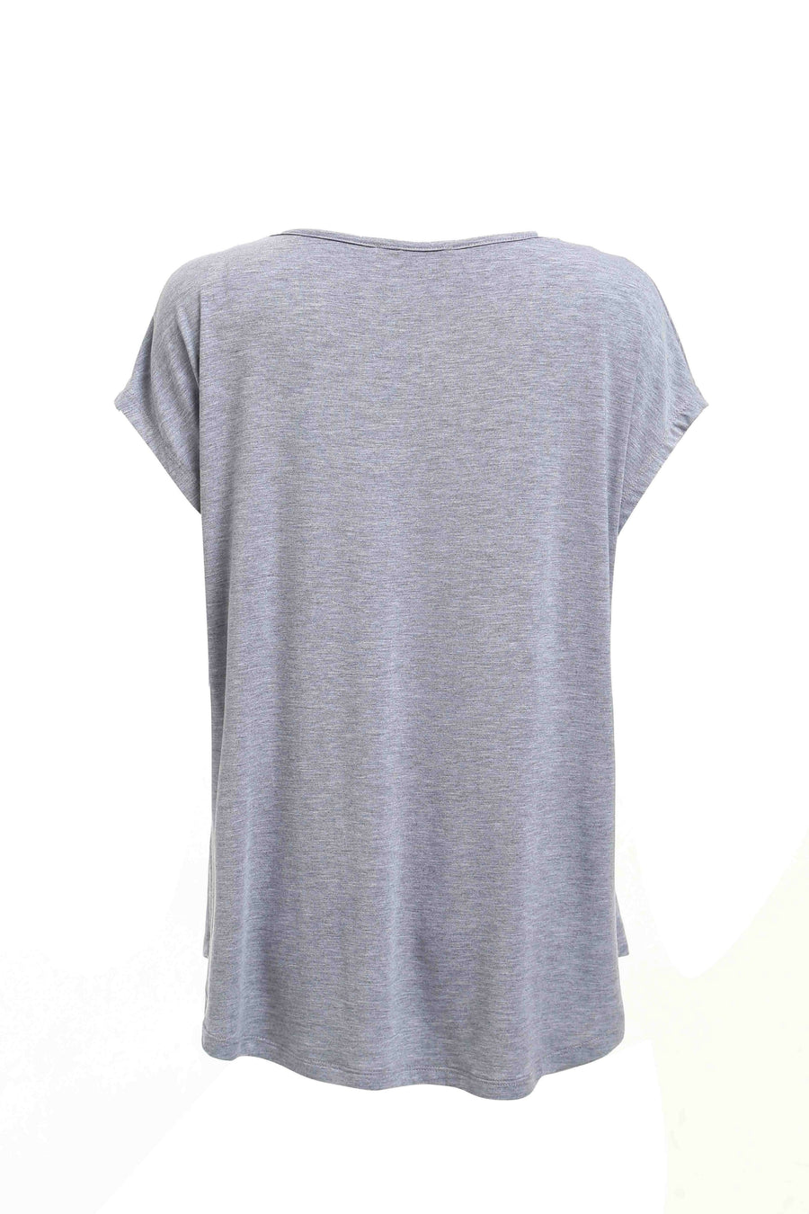 Grey Marle Star Placement Basic Tee