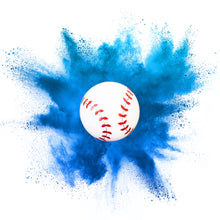 Load image into Gallery viewer, blue gender reveal baseball biodegradable it's a boy gender reveal sports