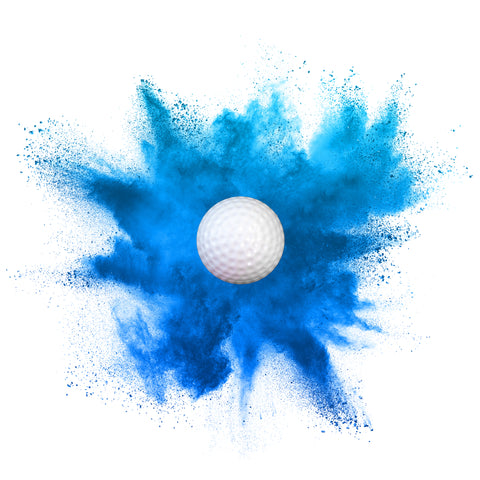 2 Pack Gender Reveal Golf Ball Set - [Blue] Comes with Tee!
