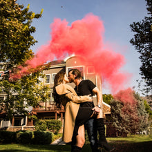 Load image into Gallery viewer, pink powder smoke cannon gender reveal party popper discreet girl