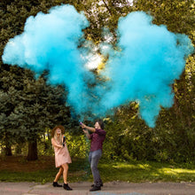 Load image into Gallery viewer, blue powder gender reveal party popper discreet