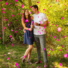 Load image into Gallery viewer, pink gender reveal biodegradable confetti cannon