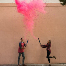 Load image into Gallery viewer, its a girl gender reveal party popper with biodegradable confetti and non-toxic powder