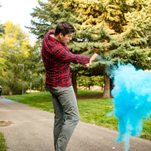 Load image into Gallery viewer, tee up gender reveal baseball blue color powder it's a boy