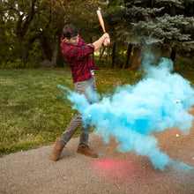 Load image into Gallery viewer, gender reveal baseballs boy blue gender reveal sports