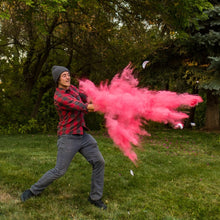 Load image into Gallery viewer, pink gender reveal sports baseball its a girl pink color powder discreet surprise!