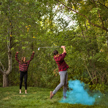 Load image into Gallery viewer, blue golf ball color powder gender reveal tee up it's a boy! poof!