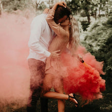 Load image into Gallery viewer, pink gender reveal smoke bomb girl discreet label
