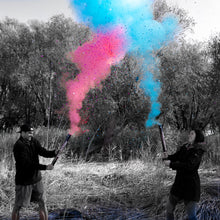 "Load image into Gallery viewer, 24"" extra large gender reveal party cannon powder confetti mixed celebration baby boy girl pink blue"