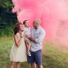 Load image into Gallery viewer, pink gender reveal smoke bombs for gender reveal photos